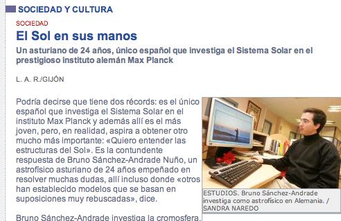inicioEL COMERCIO DIGITAL | SOCIEDAD Y CULTURA - El Sol en sus manos (20091106)